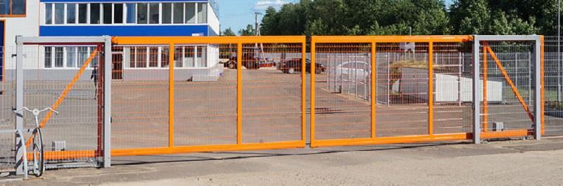 Сварные ворота для промышленных предприятий