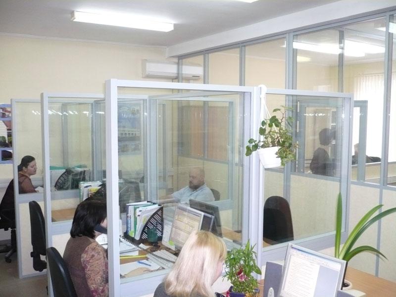 Стеклянные офисные перегородки Томск