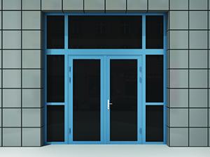 Дверь алюминиевая остекленная